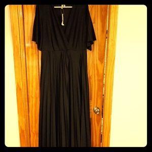 ASOS Curve Black Maxi Dress NWT, size 16